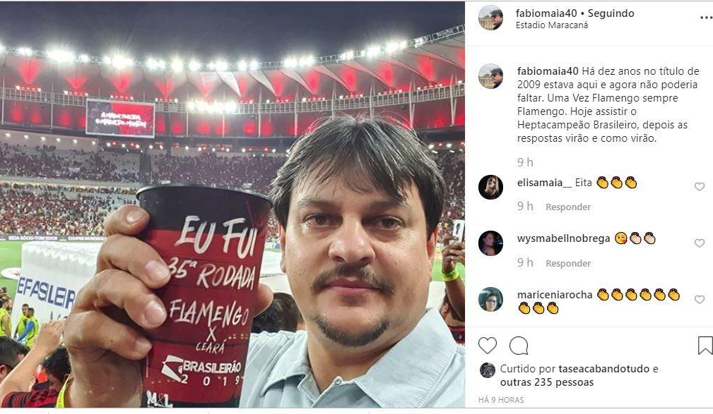 MAIA2 - MAIA NO JOGO DO MENGÃO: 'Depois as respostas virão, e como virão', diz Fábio Maia após exoneração do governo