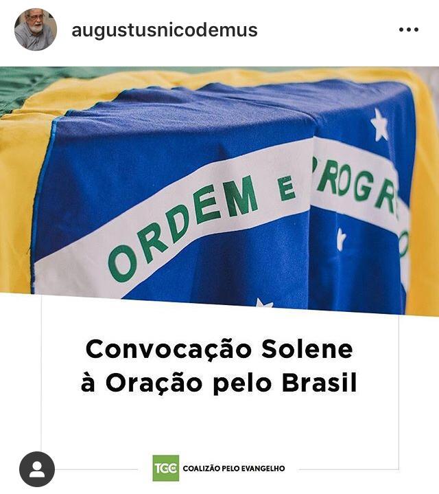 WhatsApp Image 2019 11 08 at 23.45.14 - Contra corrupção, evangélicos fazem 'convocação solene à oração pelo Brasil'