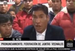 Forças leais a Evo dão 48 horas para líder golpista deixar La Paz – VEJA VÍDEO