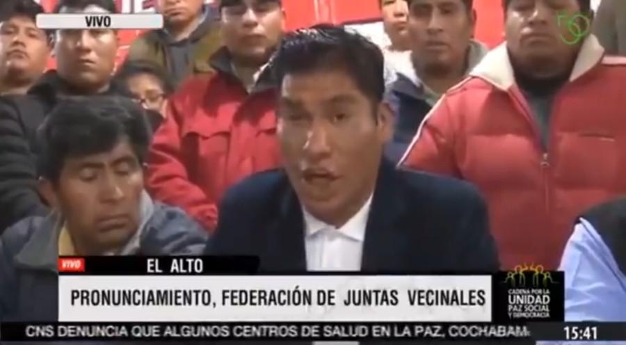 bolivia comite popular e1573465456159 - Forças leais a Evo dão 48 horas para líder golpista deixar La Paz - VEJA VÍDEO