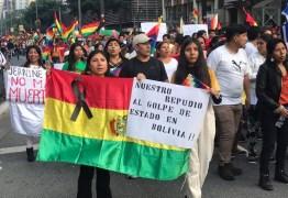 Comunidade boliviana denuncia golpe de Estado na Avenida Paulista
