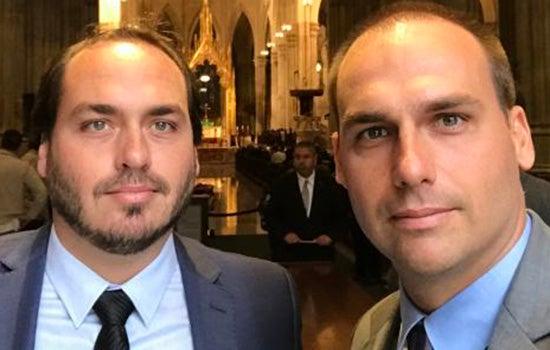 carlos e eduardo - Carlos e Eduardo Bolsonaro são intimados pela PF a depor no inquérito sobre atos antidemocráticos
