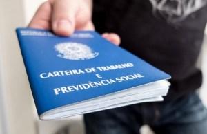 carteira de trabalho 300x195 - Paraíba gera mais de 6,1 mil empregos formais em 2019, melhor resultado em 5 anos