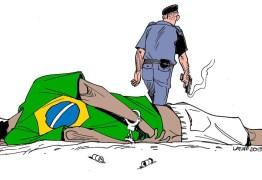 Reação de deputado ao atacar obra prova que charge estava certa, diz cartunistaCarlos Latuff