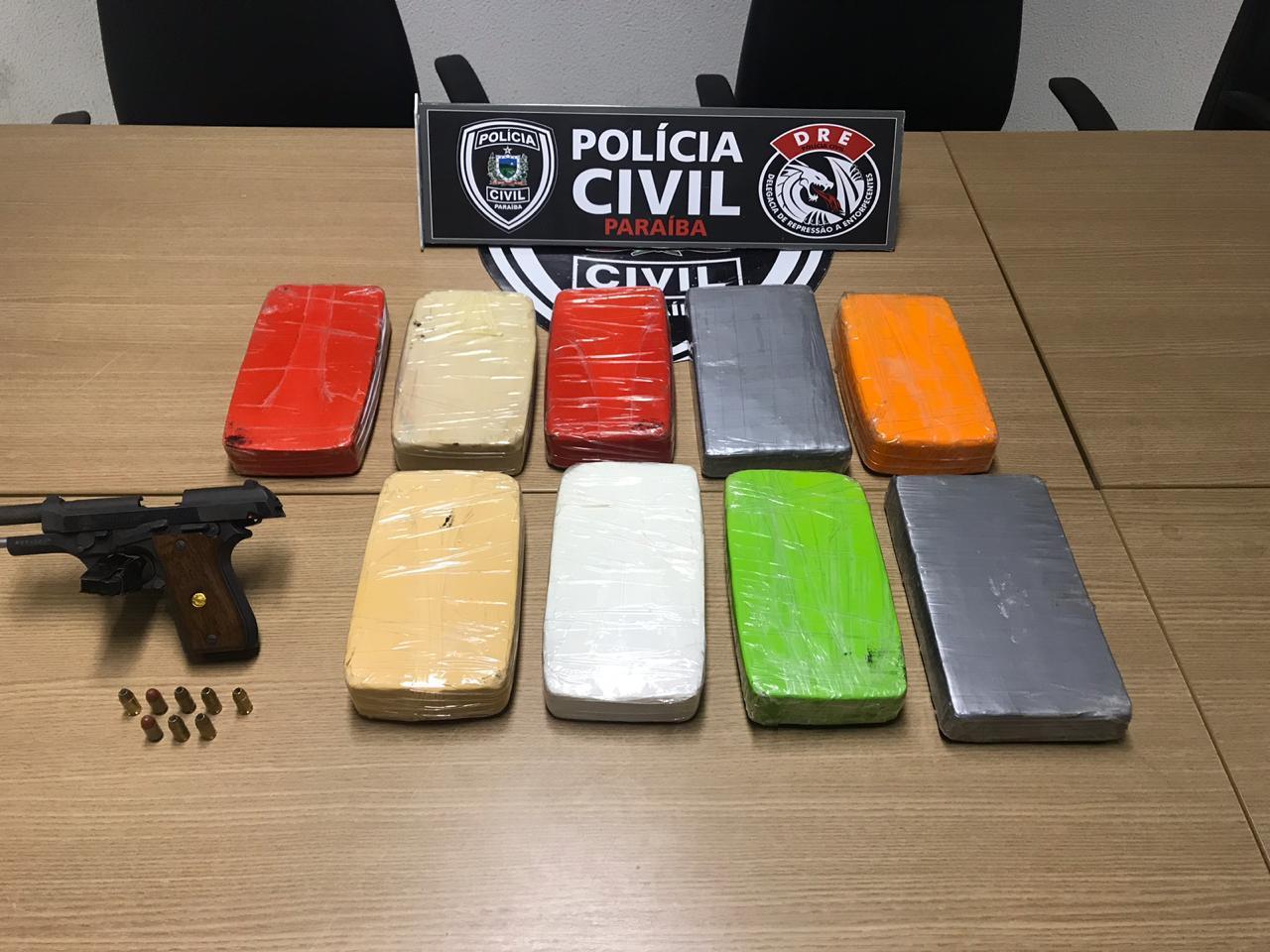 droga 3 - Casal é preso com nove quilos de pasta base de cocaína em JP