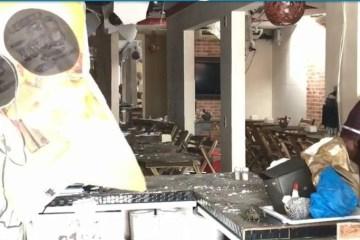 explosão - FUNCIONÁRIAS FERIDAS: Botijão de gás explode em restaurante de João Pessoa