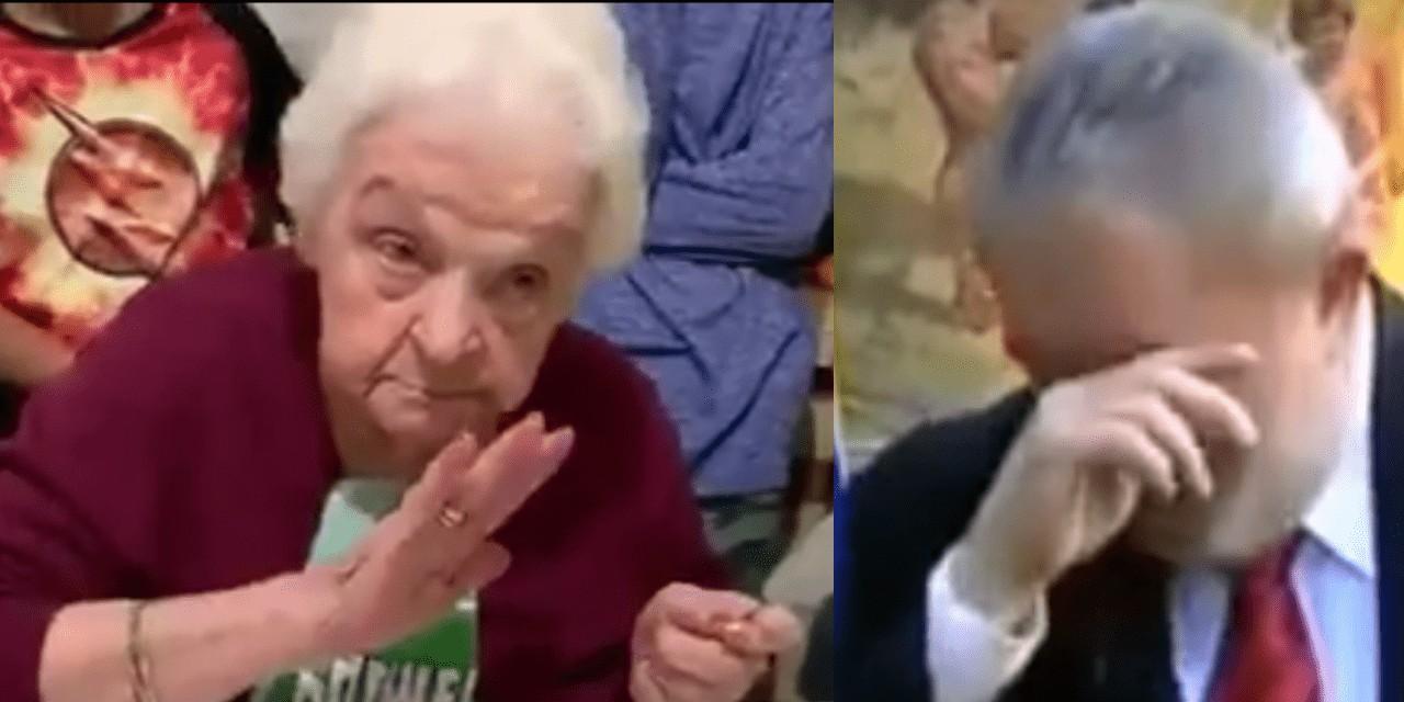 senhora 1280x640 - De aniversário, senhora de 92 anos pede que Lula volte para prisão - VEJA VÍDEO