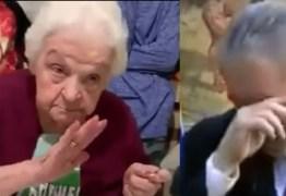 De aniversário, senhora de 92 anos pede que Lula volte para prisão – VEJA VÍDEO