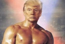 Trump posta foto em que se retrata como Rocky Balboa: 'Peitoral lindo'