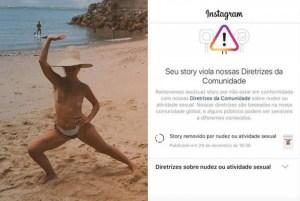 1 lua leca 14961600 300x201 - Mulher de Maria Gadú posa de topless e tem foto excluída no Instagram
