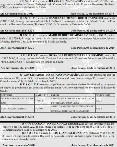4a677806 dedb 4180 900b ddf0b5904345 - Um dia após governador deixar o PSB, Diário Oficial do Estado registra mais de 40 exonerações