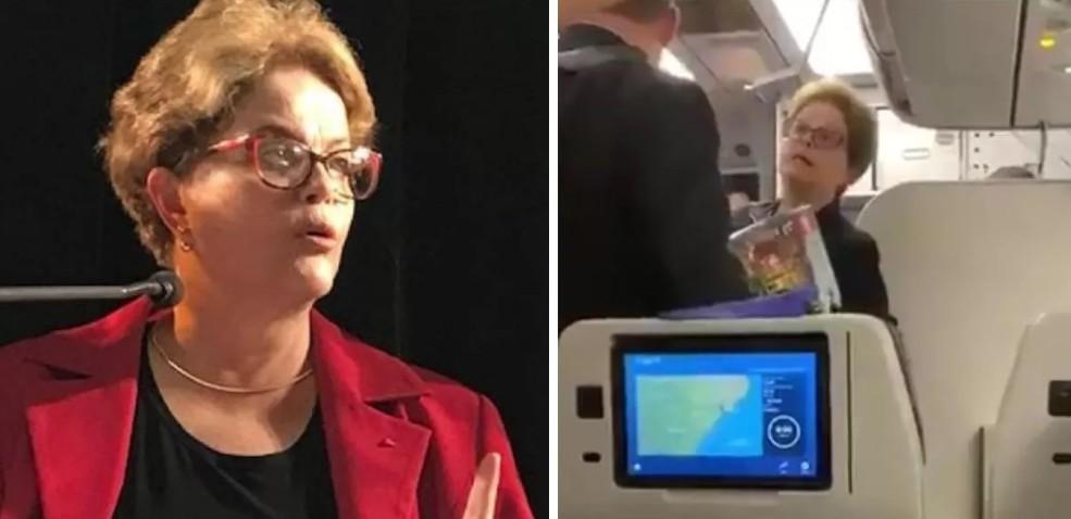 Capturar 12 - Dilma é hostilizada em avião e responde: 'sei o que vocês defendem. Defendem milícia, não é isso?'