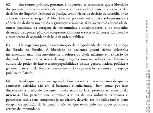 PGR URGENCIA - RECURSO AO STJ: PGR pede que Ricardo Coutinho volte a ser preso 'com urgência'