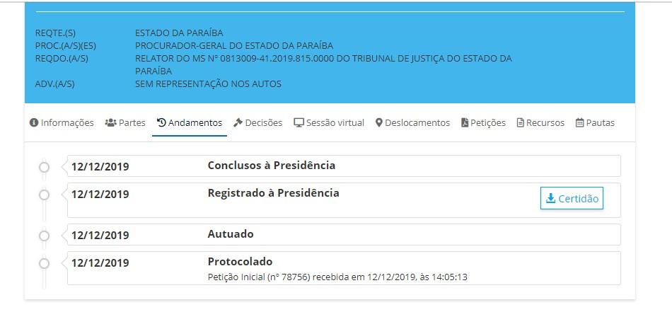 TOFFOLI - PBPREV: recurso do Estado para manter rito de votação está 'concluso para julgamento' no gabinete de Toffoli; LEIA