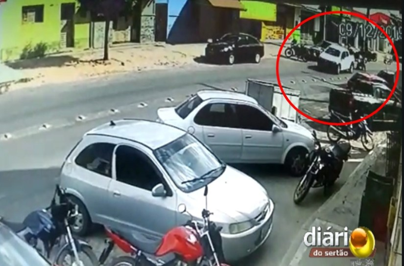 cameras segurana - Câmeras de segurança mostram tiroteio durante tentativa de assalto na PB; VEJA VÍDEO