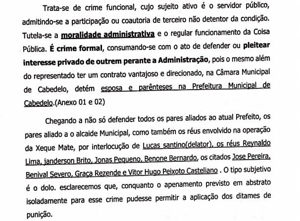 denuncia 02 - Ex-vereador de Cabedelo denuncia advogado de Lucas Santino por obter vantagens indevidas na gestão: 'Esposa e irmã ganham R$5 mil cada' - ENTENDA CASO
