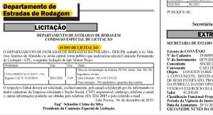 lici 300x162 - Diário Oficial do Estado publica edital de licitação para pavimentação da estrada do distrito de Engenheiro Avidos; confira
