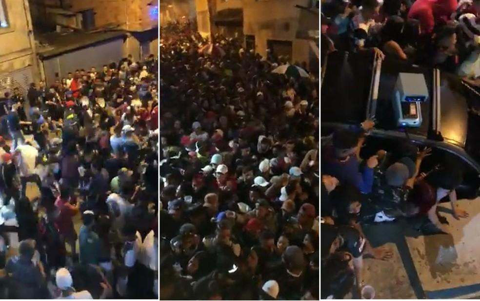 montagem - 9 PESSOAS MORTAS: imagens mostram desespero de moradores durante confronto entre polícia e suspeitos em Paraisópolis; VEJA VÍDEO