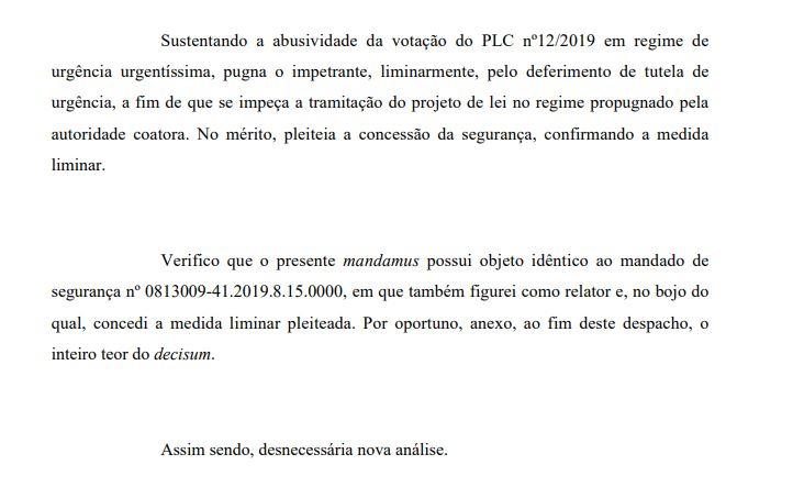 onaldo rejeita - TJPB decide não apreciar novo mandado contra tramitação de projeto que altera PBPrev