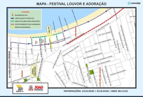 pmjp 300x204 - Semob-JP define plano de circulação para a Orla durante Festival Louvor e Adoração