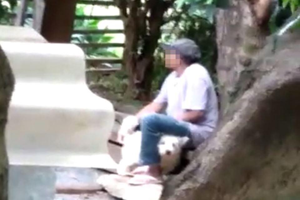 Cachorro estuprado - Homem é flagrado por vizinhos estuprando cachorro