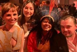 Pré-Oscar, Petra Costa e Sonia Guajajara encontram com DiCaprio e Brad Pitt