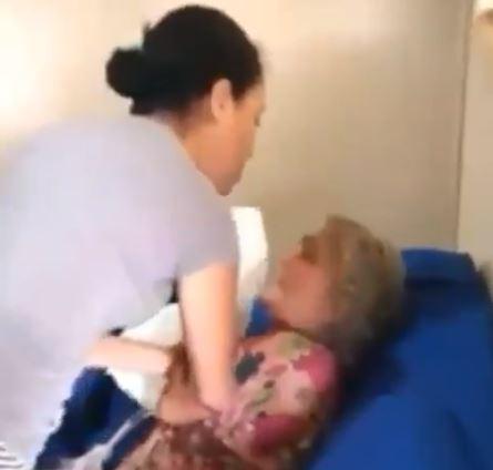 Pastora - Pastora e cantora evangélica é flagrada batendo na sogra de 73 anos - VEJA VÍDEO
