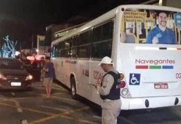 ACIDENTE: Colisão entre carro e ônibus deixa uma pessoa ferida em João Pessoa