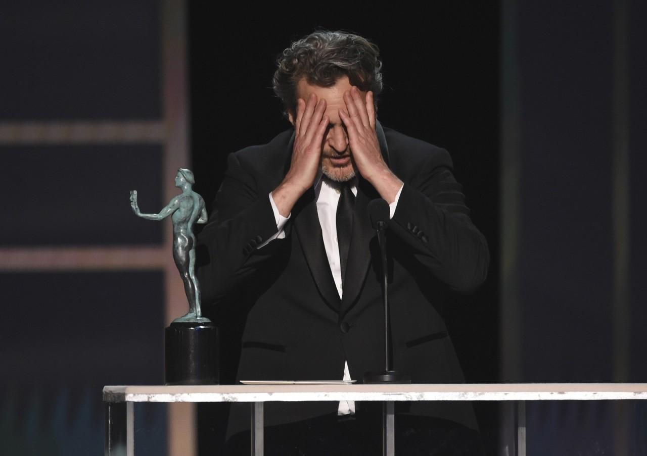 ap20020139745631 - Joaquin Phoenix, ator de 'Coringa', leva prêmio do Sindicato dos Atores