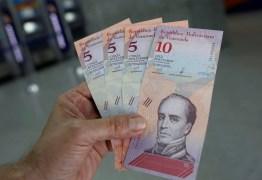 250 MIL BOLÍVARES: Após aumento de 66%, salário mínimo na Venezuela equivale a R$ 15