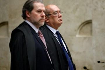 dias toffoli e gilmar mendes abr - CALVÁRIO: Toffoli aponta 'perda de objeto' e extingue recurso do MPF contra liberdade de Ricardo Coutinho e de outros investigados