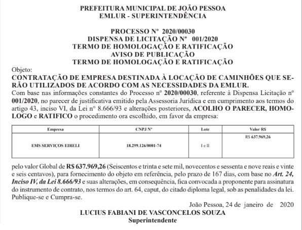 lixo - Prefeitura firma contrato de 167 dias no valor de R$ 620 mil para a coleta emergencial do lixo