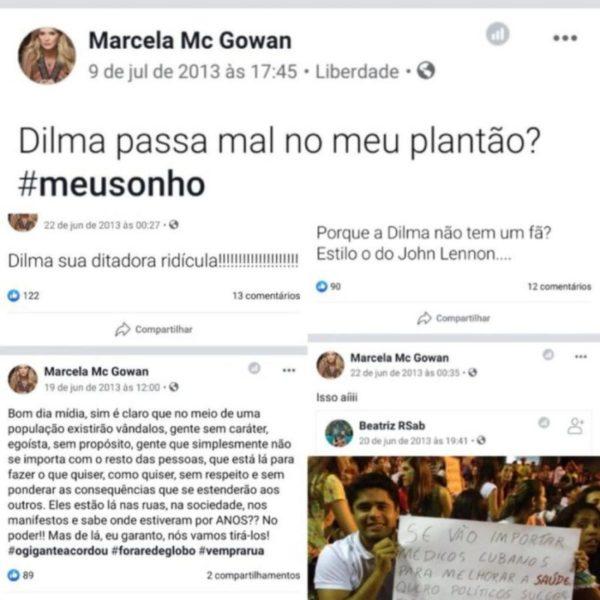 """marcela mc gowan e1579774929856 - Participante do BBB20, médica sugeriu que mataria Dilma """"em seu plantão"""""""