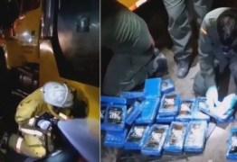 Polícia encontra 528 quilos de cocaína em contêiner com dejetos humanos