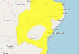 Inmet emite alerta de chuvas intensas para Campina Grande e outras 210 cidades da Paraíba