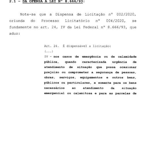 OFENSA À LEI - Auditoria do TCE aponta irregularidade em dispensa de licitação para agência de publicidade na Prefeitura de Campina; VEJA DOCUMENTO