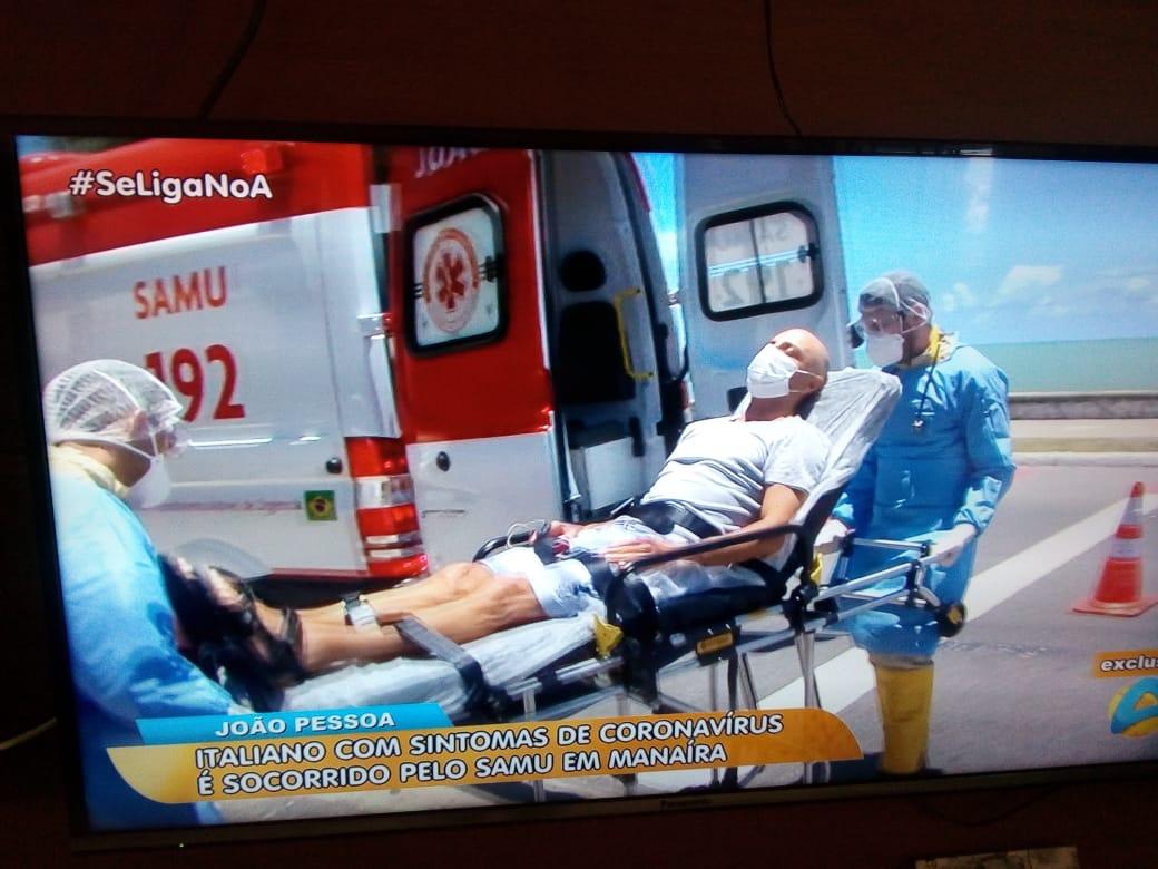 WhatsApp Image 2020 02 28 at 12.13.29 - Italiano internado em João Pessoa não se enquadra no perfil do Coronavirus, diz Secretaria de Saúde
