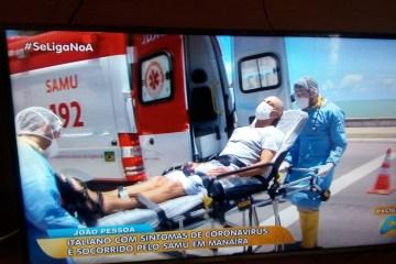 Italiano internado em João Pessoa não se enquadra no perfil do Coronavirus, diz Secretaria de Saúde