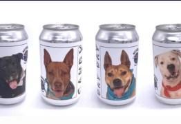 Dona de cão reconhece animal em foto impressa em lata de cerveja