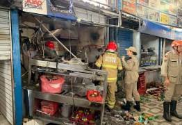 Box no Centro Comercial de Passagem em João Pessoa é destruído por incêndio