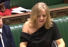 Deputada mostra ombro no Parlamento em Londres e causa polêmica