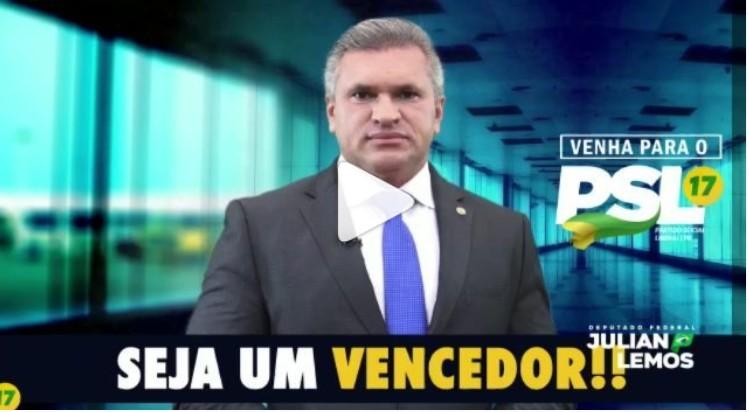 Capturar 14 - DE OLHO NA ELEIÇÕES: Julian Lemos convoca lideranças políticas para filiação ao PSL - VEJA VÍDEO