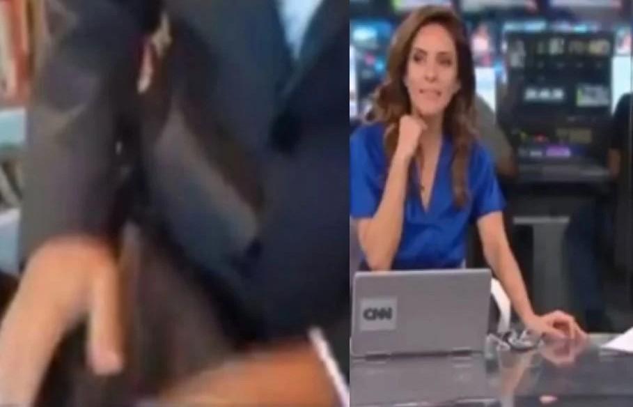 Repórter da CNN Brasil mostra calça ao vivo e deixa Monalisa Perrone constrangida