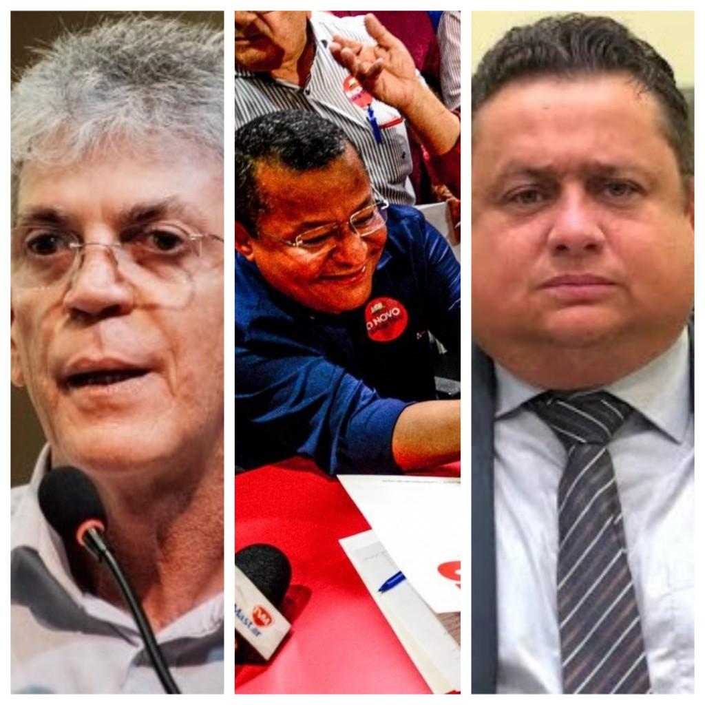 Colagem sem título 3 - Ricardo, Nilvan e Virgolino: três candidaturas com forças definidas - por Rui Galdino