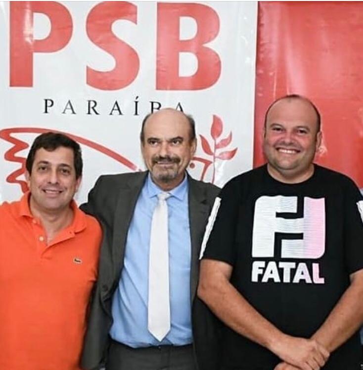 Deputado federal Gervásio Maia com Jeová e Marquinhos Campos - Marquinhos Campos assume presidência do PSB e deve disputar prefeitura de Cajazeiras