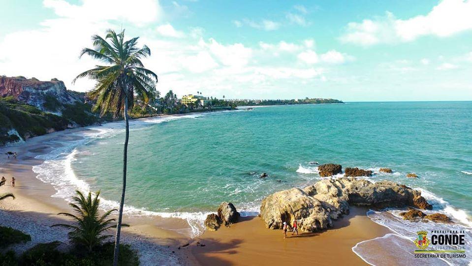 Praia de Tabatinga - Combate ao Covid-19: Prefeitura de Conde fecha acesso às Praias