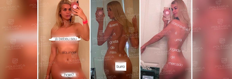 WhatsApp Image 2020 03 23 at 13.52.05 - Coach brasileira posta nudes para denunciar 'farsa' do coronavírus: 'É uma jogada de mercado'
