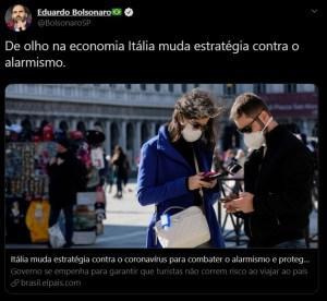 WhatsApp Image 2020 03 25 at 20.05.21 300x276 - Eduardo Bolsonaro usa notícia pré-pandemia da Itália para criticar isolamento e é bombardeado nas redes