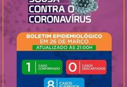Prefeitura de Sousa confirma primeiro caso de coronavírus na cidade