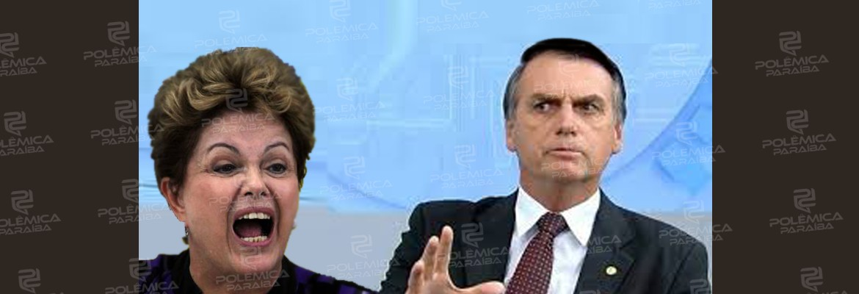 """dilma x bolsonaro - Dilma chama Bolsonaro de """"psicopata"""" e se coloca em quarentena após viagem"""